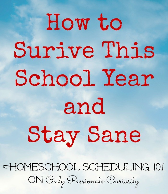Homeschool Scheduling 101: How to Stay Sane While Homeschooling