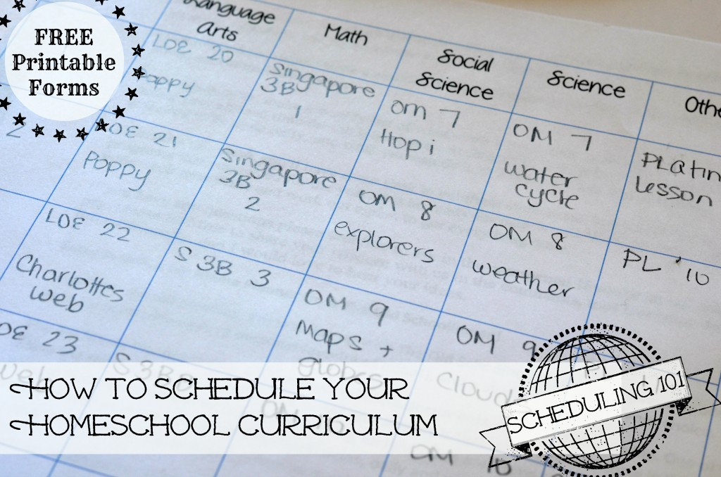 Scheduling your year- free printable forms and step by step instructions