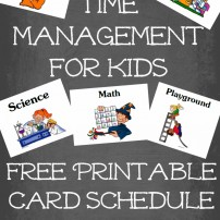 Time Management for Kids free printable card system for homeschoolers