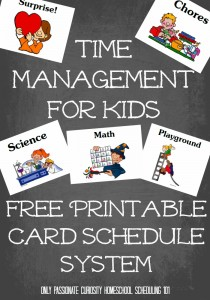 Homeschool Scheduling 101: Keeping Kids on Track {Free Printable Schedule System}