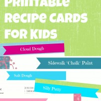 How do I Teach with a Toddler Underfoot? Keep Their Hands Busy! {Free Printable Fun Recipes}