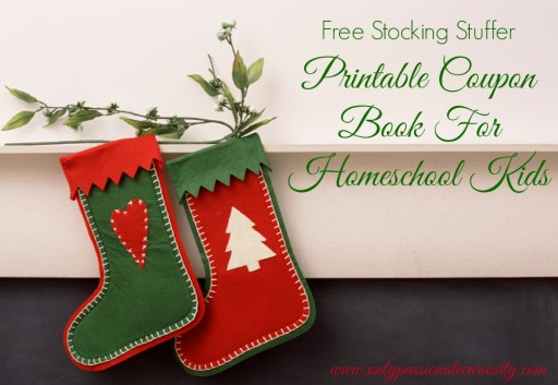 Free Printable Stocking Stuffer { Coupon Book for Homeschoolers }