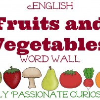 Bilingual Fruits & Vegetables Word Wall {Free for a Limited Time!}