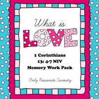 What is Love? 1 Corinthians Memory Work Pack
