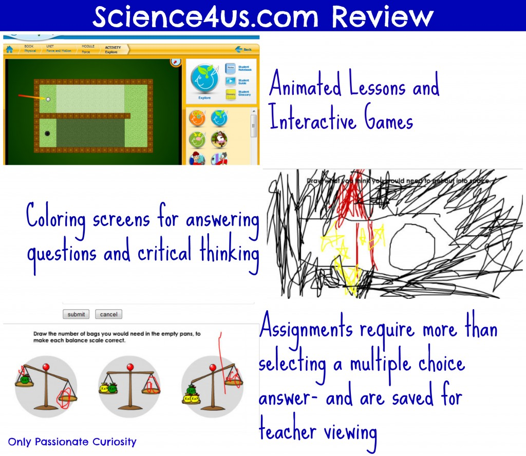 Student Assignments- Science4Us review