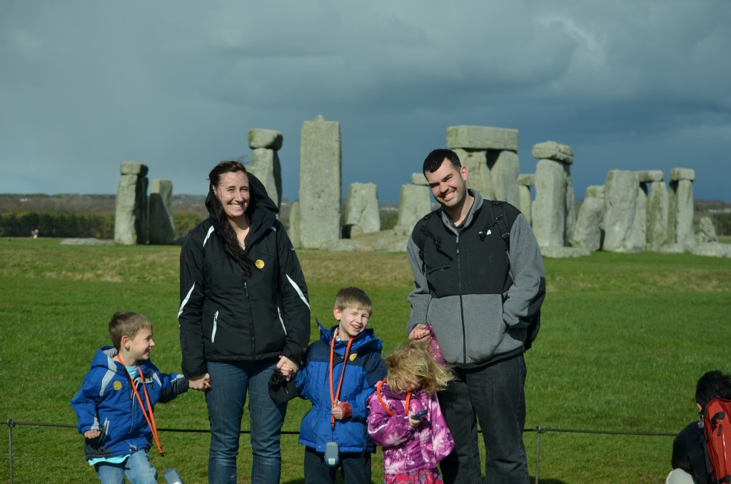 Family at Stonehenge