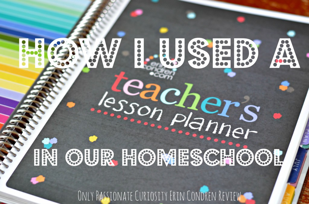 Adapting a classroom lesson planner to homeschool use