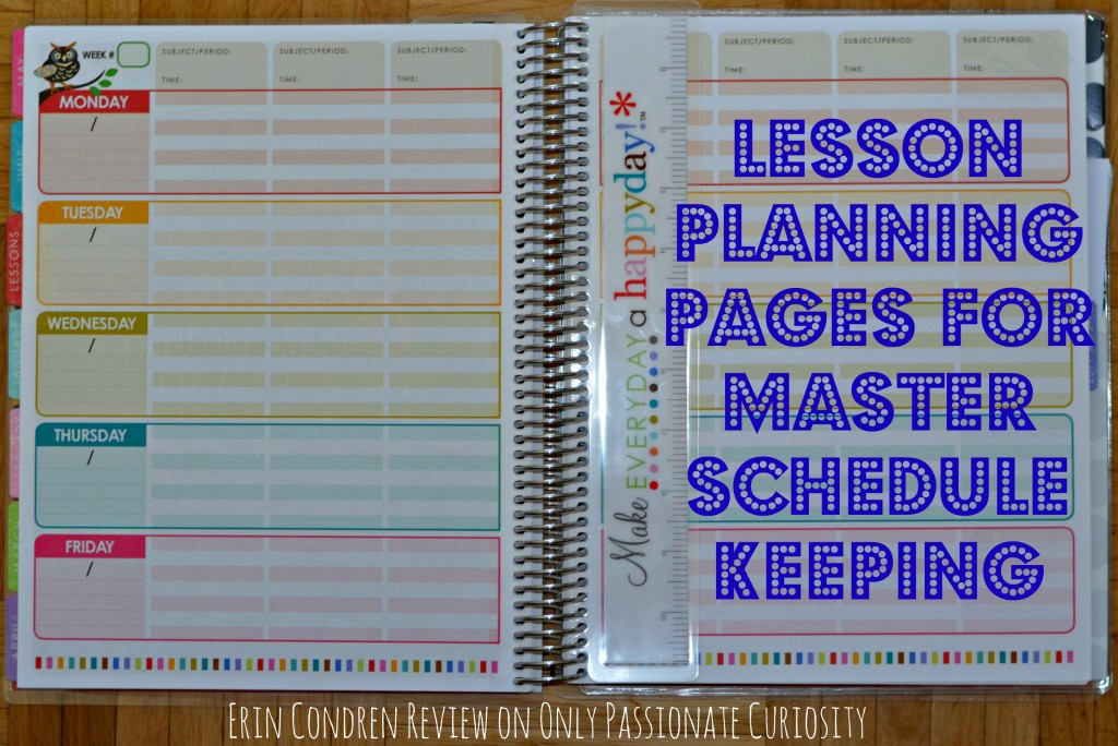 Using an Erin Condren Lesson planner in a homeschool