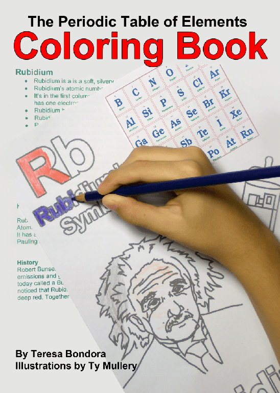 Chemistry for Kids {The Periodic Table of Elements Coloring Book Review}