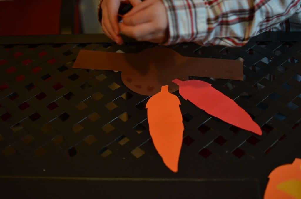 Turkey Head Cut Out Cut Out a Circle For Your Turkey Head And 2 Inch Strips of Paper From The