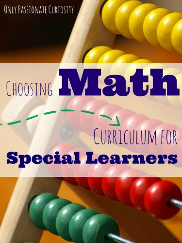 Choosing Math Curriculim for Special Learners