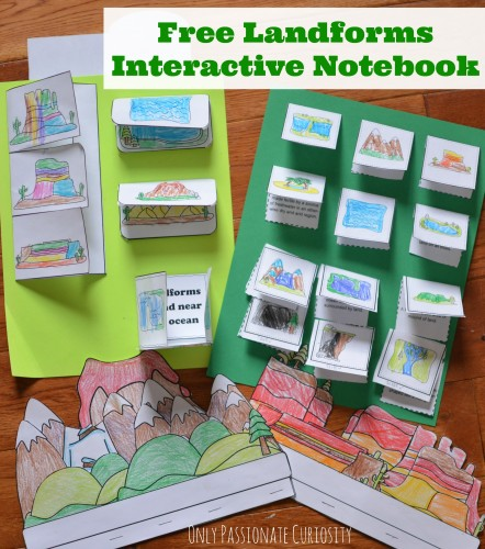 Free Landforms Interactive Notebook