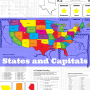 States and Capitals flash cards and worksheets