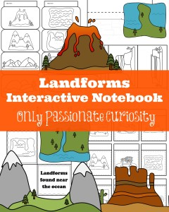 Teach your kids about Landforms with this interactive notebook pack
