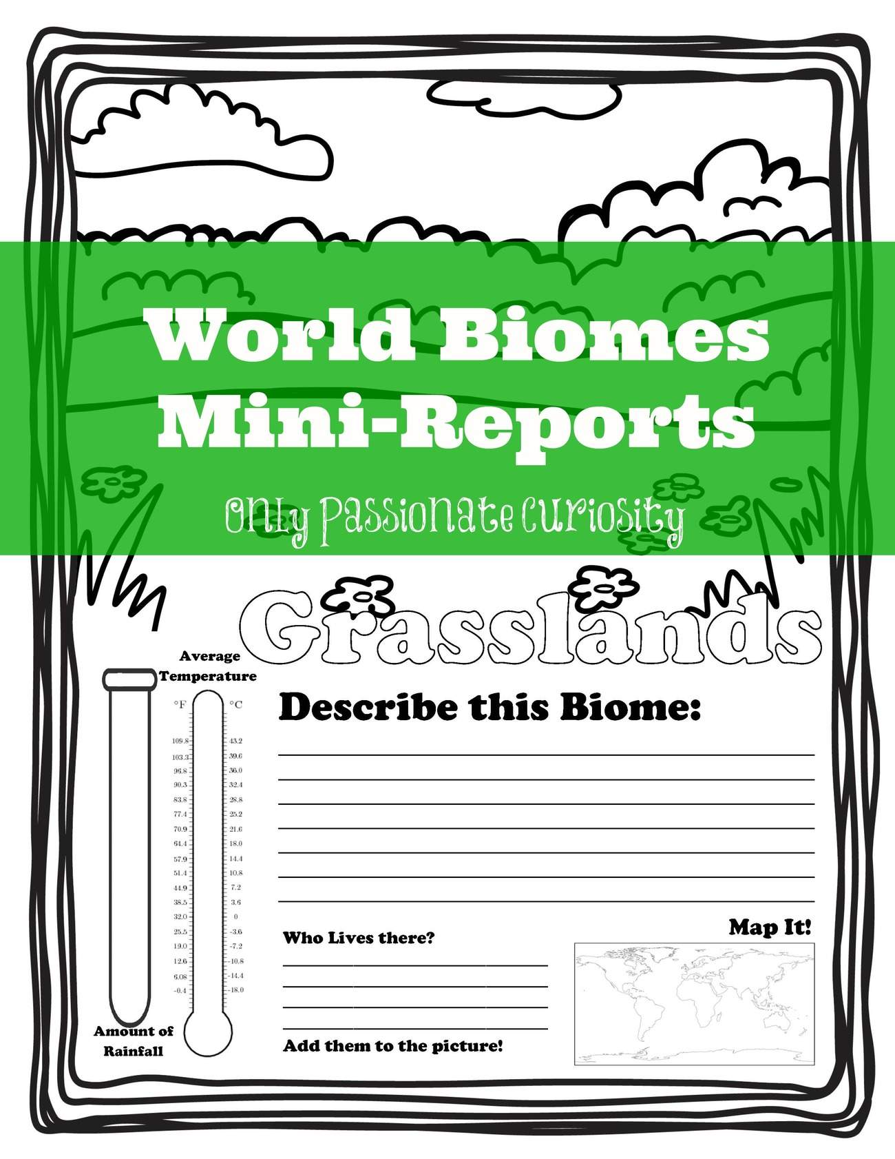 worksheet Biome Worksheets learning about world biomes only passionate curiosity mini reports