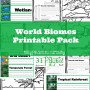 World Biomes Printable Pack from Only Passionate Curiosity