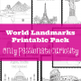 World Landmarks Printable Pack
