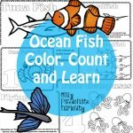 Ocean Fish Color, Count and Learn Pack