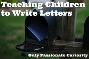 Teaching Children to Write Letters