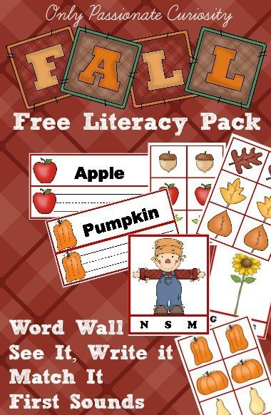 Free Printable Fall Early Learning Pack