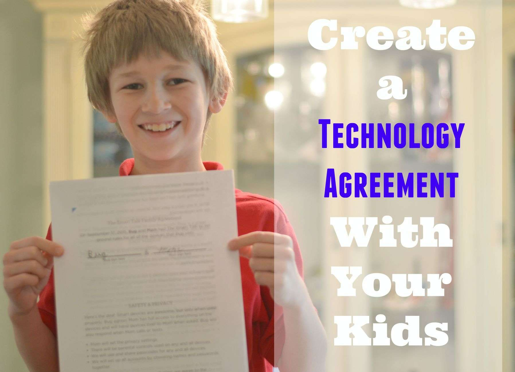 Create a Technology Agreement with your Children