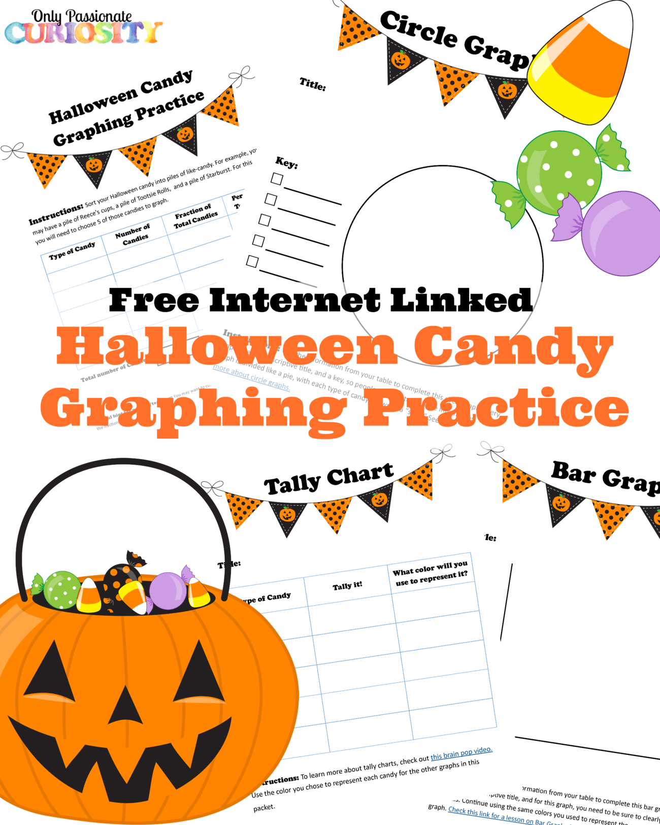 worksheet Halloween Graphing halloween candy graphing practice free printable only passionate curiosity