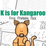 K is for Kangaroo {ABCs for Me}