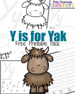 Y is for Yak {ABCs for Me}