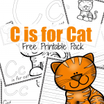 C is for Cat {ABCs for Me Printable Pack}