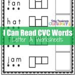 CVC Worksheets: Cut and Paste Letter A