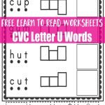 Learn to Read Worksheets: Practice with CVC U Words