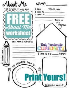 All About Me {Back to School Printable}