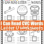 I Can Read CVC Words: Middle U Worksheets