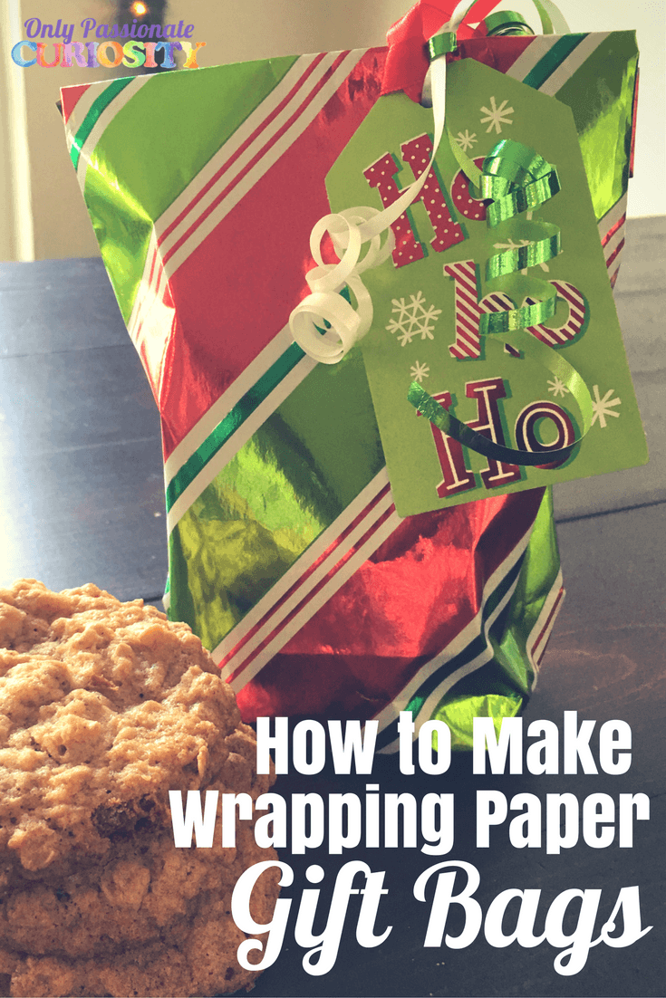 How to Make Cookie Gift Bags out of Wrapping Paper