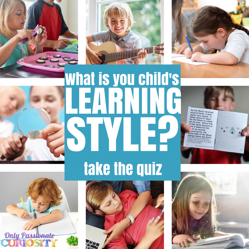 What is your Child's Learning Style? Take the Quiz