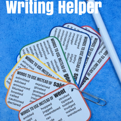 Printable Better Words to Use Writing Helper