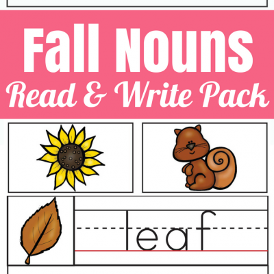 Fall Nouns Read and Write Pack