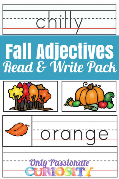 Fall Adjectives Read and Write Pack