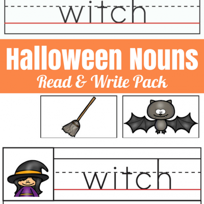 Halloween Nouns Read and Write Pack