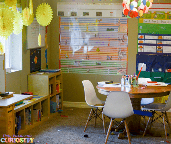 Homeschool room tour organization ideas only for Homeschool dining room ideas