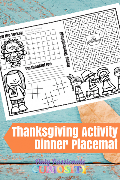 Thanksgiving Play and Learn Placemat