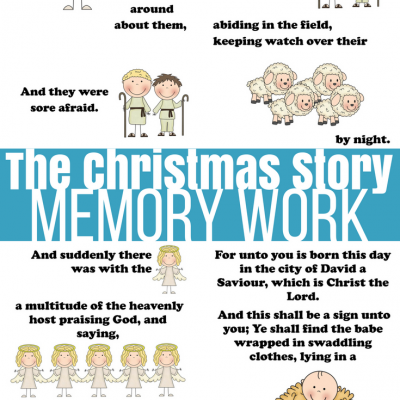 Nativity Word Wall and Picture Memory Verses