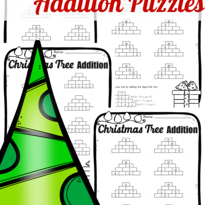 Christmas Tree Addition Puzzles