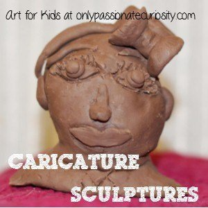Kid's Caricature Sculptures in the Style of Honore Daumier
