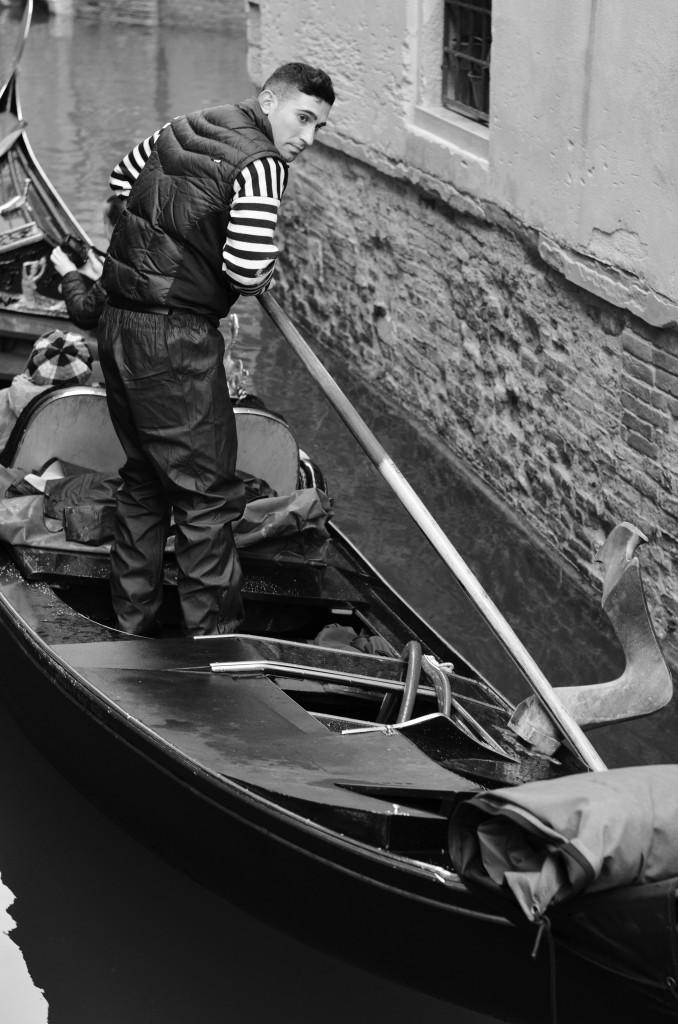 Wordless Wednesday: Venetian Gondolier