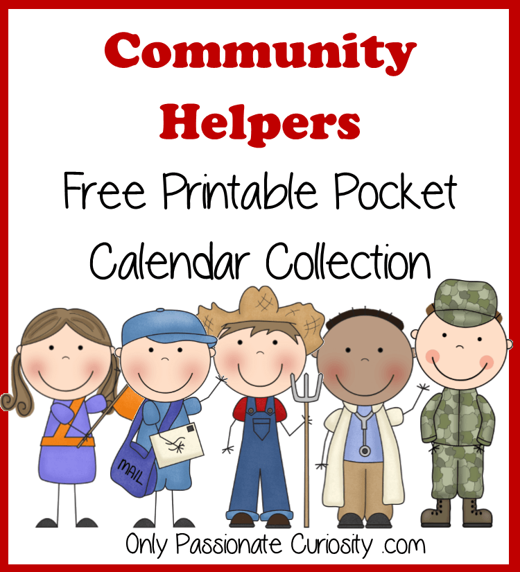 Community Helpers Free Pocket Calendar Cards and Reading ...