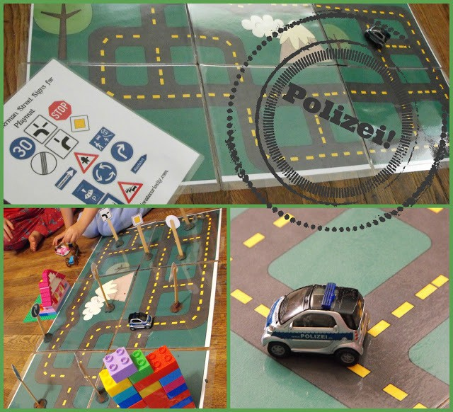 Printable Road Playmat and German Road Signs