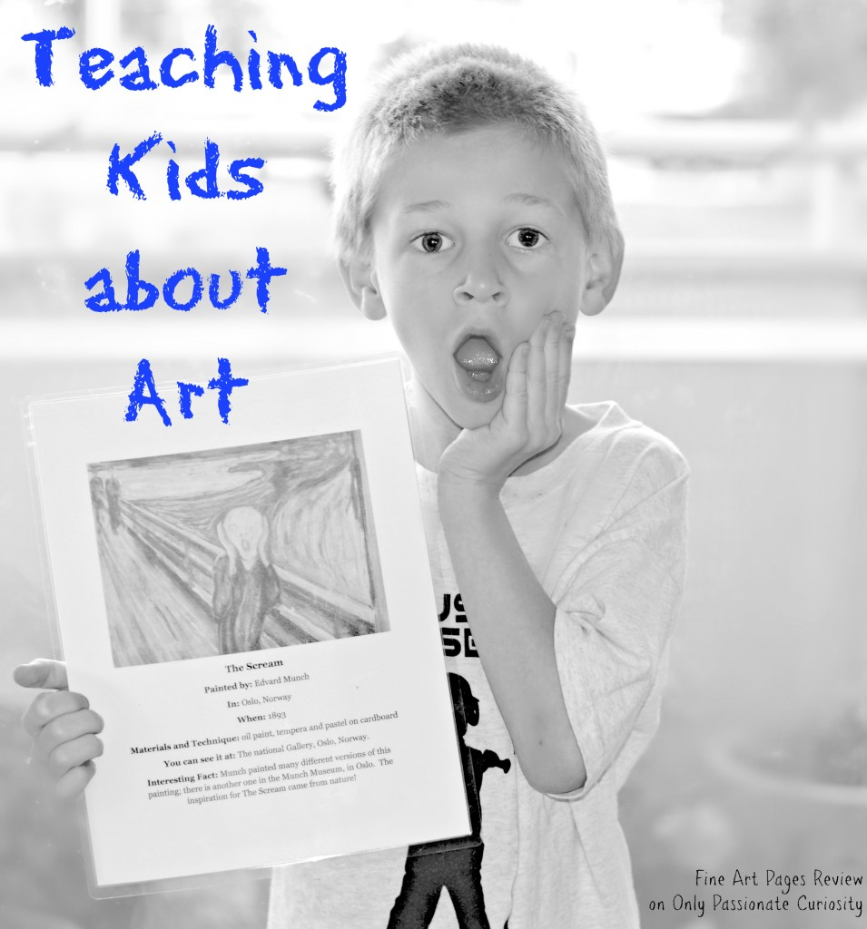 Fine Arts Pages Review- Teach about art the easy way
