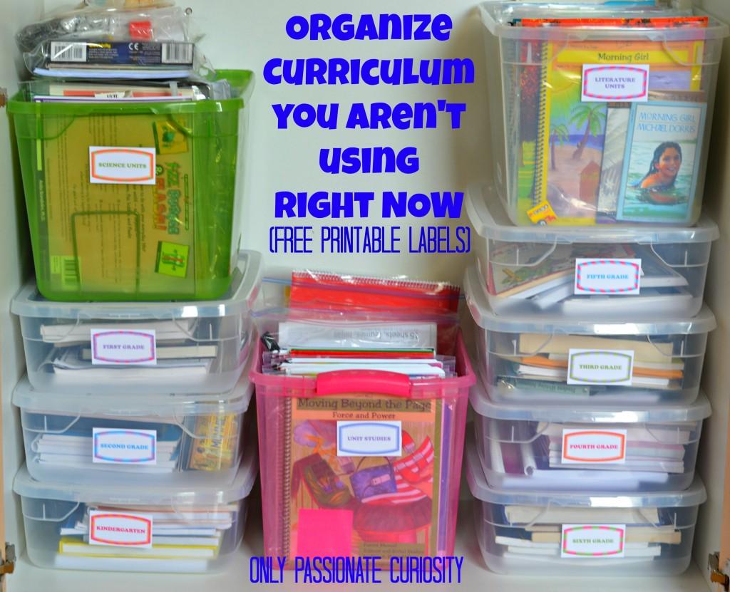 Organize your curriculum stash