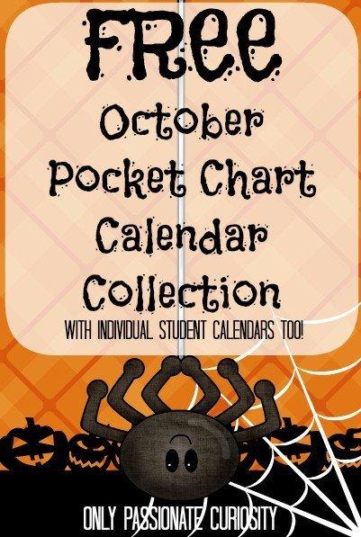 Free Printable Halloween Calendar Collection
